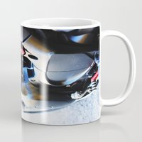 motorcycle Mugs featuring Motorcycle by Carlo Toffolo