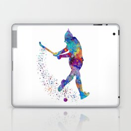 Girl Field Hockey Watercolor Print Field Hockey Gift Sports Poster Home Decor Girl's Room Decor Laptop & iPad Skin