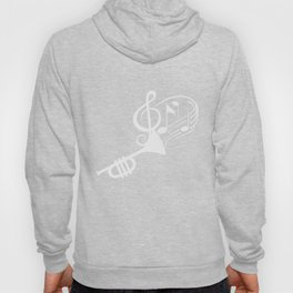 Awesome Trumpet Music Notes Musician Instrument Hoody