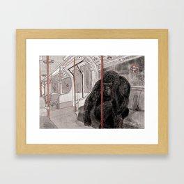 Gorilla on the Tube Framed Art Print