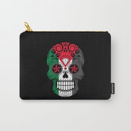 Sugar Skull with Roses and Flag of Palestine Carry-All Pouch