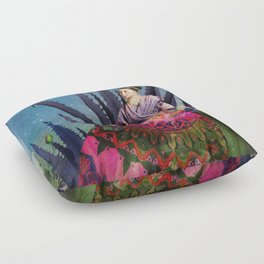 Blue Agave and Cacao Floor Pillow