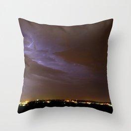 Double Lightning Throw Pillow