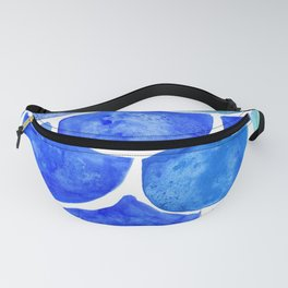 Mermaid Scales Blue & Turquoise Fanny Pack