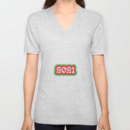 2021 Retro Bumper Sticker Design 2 Unisex V-Neck