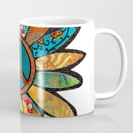 Earthy Peace Flower Coffee Mug