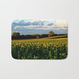 Summer sunflower field Bath Mat