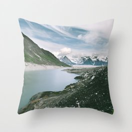 Backside Lake Throw Pillow