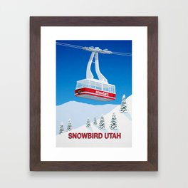 Snowbird Ski Resort Framed Art Print