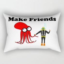 Make Friends Rectangular Pillow
