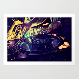 At Nightclub Art Print