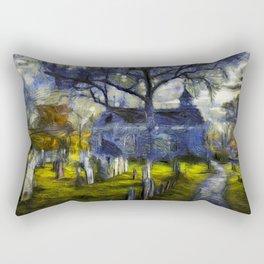 Sleepy Hollow Church Art Van Gogh Rectangular Pillow