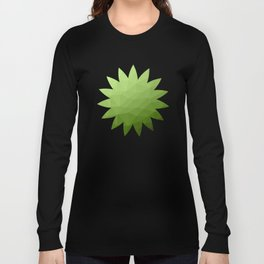 Greenery ombre gradient geometric mesh Long Sleeve T-shirt