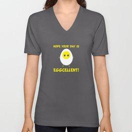 Hope your day is eggcellent! Unisex V-Neck