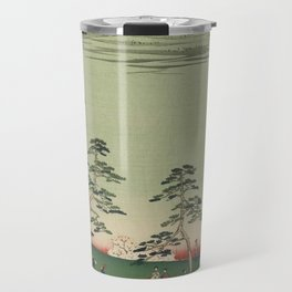 Spring Trees Mountain Ukiyo-e Japanese Art Travel Mug