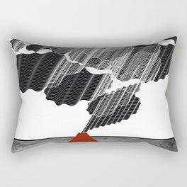 Little Red Volcano Rectangular Pillow