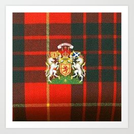 RED & GREEN CAMERON TARTAN ROYAL SCOTLAND Art Print
