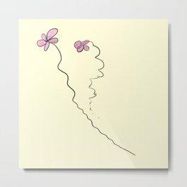 Two Flowers Metal Print