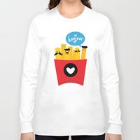 fries Long Sleeve T-shirts featuring French Fries by Reg Silva / Wedgienet.net