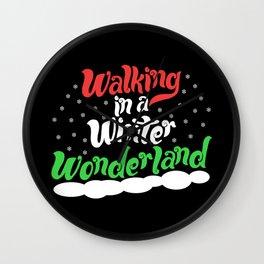 Walking through a Winter Wonderland Wall Clock
