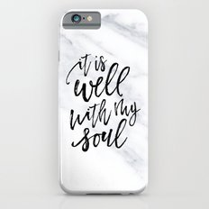 Well With My Soul - Marble iPhone 6s Slim Case