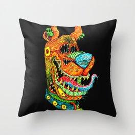 Trippy Dog Throw Pillow