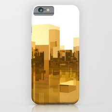 abstract gold city iPhone 6s Slim Case