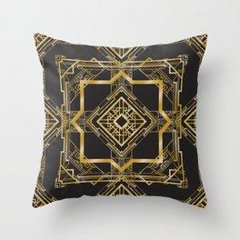 Art Deco Geometric Pattern Throw Pillow