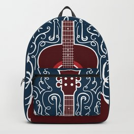 Acoustic Guitar With A Scroll Design Backpack