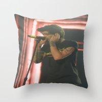 zayn malik Throw Pillows featuring Zayn Malik by Halle