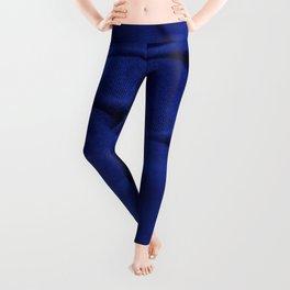 Blue Velvet Dune Textile Folds Concept Photography Leggings