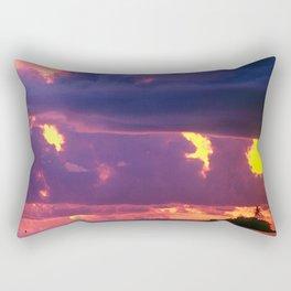 Purple Sunset Over Tiny Island in Micronesia Rectangular Pillow