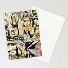 Italian Comics Vintage Pop art Collage Stationery Cards