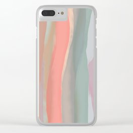 Peachy Watercolor Clear iPhone Case