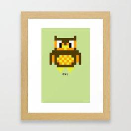 8 Bit Owl Framed Art Print
