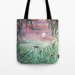 Haku and Chihiro Painting Tote Bag