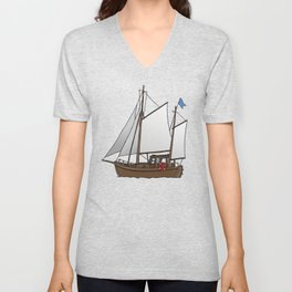 Sailing boat cutter Unisex V-Neck