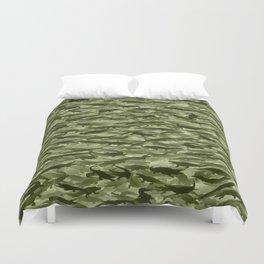 Crocodile camouflage Duvet Cover