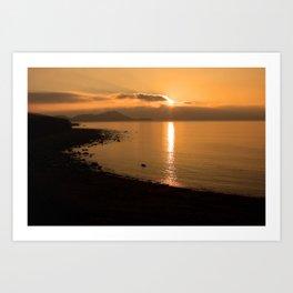 Sunset On A Western Shore Art Print