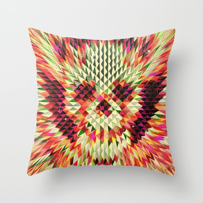 Geo Skull Throw Pillow