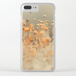Mustard Yellow Flowers Clear iPhone Case