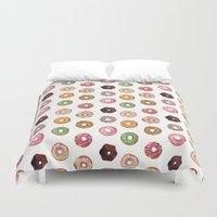 donuts Duvet Covers featuring Donuts by BySamantha | Samantha Ranlet