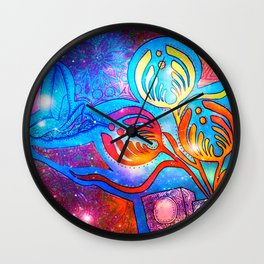 Cosmic Hummingnectar Wall Clock