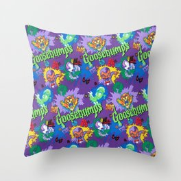 Goosebumps 90's Pattern Throw Pillow