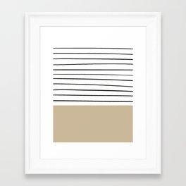 MARINERAS CREAM Framed Art Print