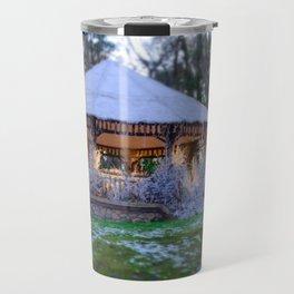 Kiosk in winter Travel Mug