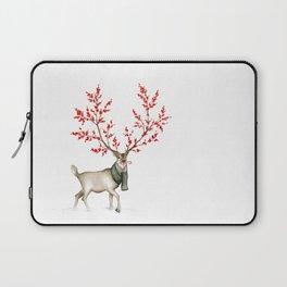 Rudolph the Winterberry Antler'd Reindeer Laptop Sleeve