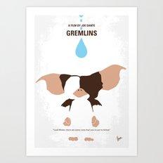 No451 My Gremlin minimal movie poster Art Print