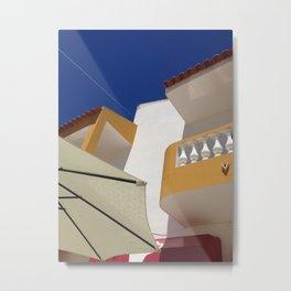 Albufeira, yellow, blue Metal Print