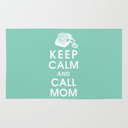 Keep Calm and Call Mom Rug